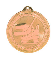 "2"" Bronze Hockey Laserable BriteLazer Medal"