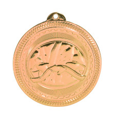 "2"" Bronze Martial Arts Laserable BriteLazer Medal"