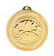 "2"" Gold Martial Arts Laserable BriteLazer Medal"