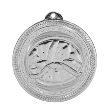 """2"""" Silver Martial Arts Laserable BriteLazer Medal"""