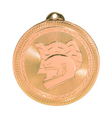 "2"" Bronze Racing Laserable BriteLazer Medal"