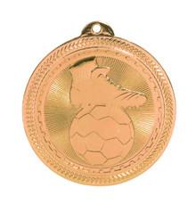 """2"""" Bronze Soccer Laserable BriteLazer Medal"""
