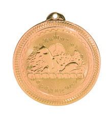 "2"" Bronze Swimming Laserable BriteLazer Medal"