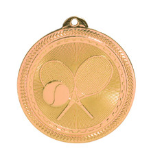 "2"" Bronze Tennis Laserable BriteLazer Medal"