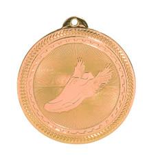 "2"" Bronze Track Laserable BriteLazer Medal"