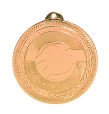 "2"" Bronze Volleyball Laserable BriteLazer Medal"