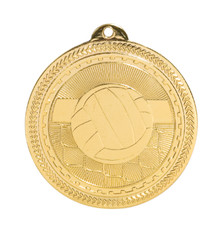 "2"" Gold Volleyball Laserable BriteLazer Medal"