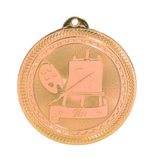 "2"" Bronze Art Laserable BriteLazer Medal"