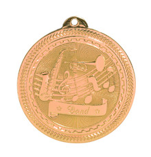 "2"" Bronze Band Laserable BriteLazer Medal"