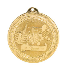 "2"" Gold Band Laserable BriteLazer Medal"