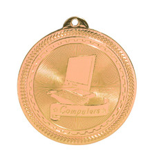 "2"" Bronze Computers Laserable BriteLazer Medal"