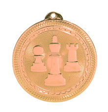 "2"" Bronze Chess Laserable BriteLazer Medal"