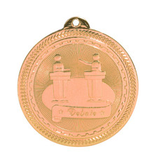 "2"" Bronze Debate Laserable BriteLazer Medal"