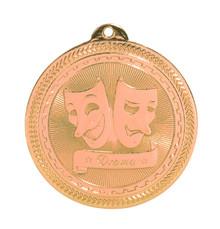 "2"" Bronze Drama Laserable BriteLazer Medal"