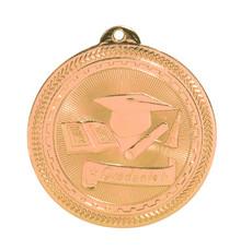 "2"" Bronze Graduate Laserable BriteLazer Medal"