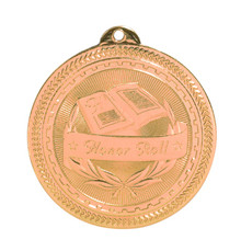 "2"" Bronze Honor Roll Laserable BriteLazer Medal"