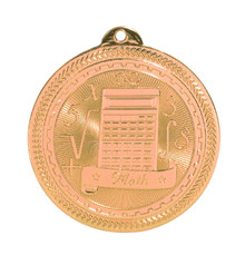 "2"" Bronze Math Laserable BriteLazer Medal"