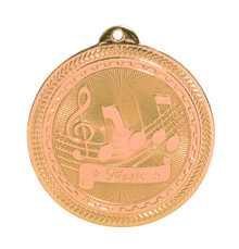 "2"" Bronze Music Laserable BriteLazer Medal"