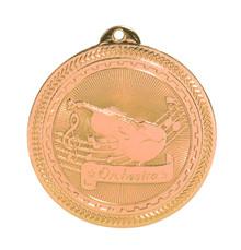 "2"" Bronze Orchestra Laserable BriteLazer Medal"