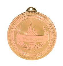 """2"""" Bronze Participant Laserable BriteLazer Medal"""