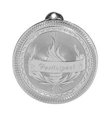 "2"" Silver Participant Laserable BriteLazer Medal"
