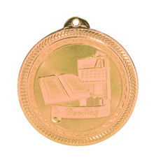 "2"" Bronze Reading Laserable BriteLazer Medal"