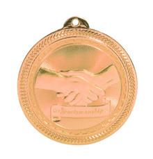 "2"" Bronze Sportsmanship Laserable BriteLazer Medal"