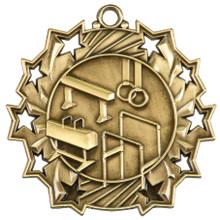 "2 1/4"" Gold Gymnastics Ten Star Medal"