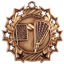 "2 1/4"" Bronze LaCrosse Ten Star Medal"