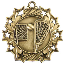 "2 1/4"" Gold LaCrosse Ten Star Medal"