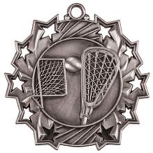 """2 1/4"""" Silver LaCrosse Ten Star Medal"""