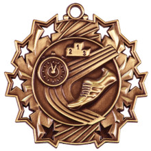 "2 1/4"" Bronze Track Ten Star Medal"