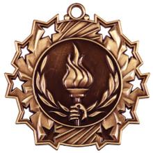 "2 1/4"" Bronze Victory Ten Star Medal"