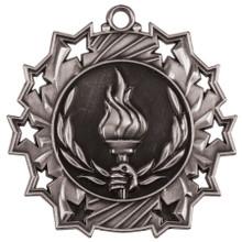 "2 1/4"" Silver Victory Ten Star Medal"