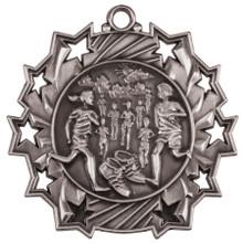 "2 1/4"" Silver Cross Country Ten Star Medal"