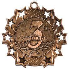 "2 1/4"" Bronze 3rd Place Ten Star Medal"