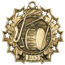 "2 1/4"" Gold Band Ten Star Medal"