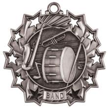 "2 1/4"" Silver Band Ten Star Medal"