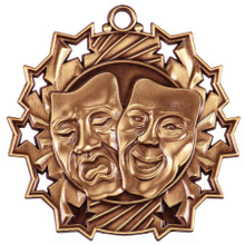 "2 1/4"" Bronze Drama Ten Star Medal"