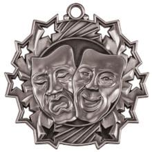 "2 1/4"" Silver Drama Ten Star Medal"