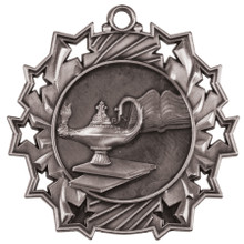 "2 1/4"" Silver Graduate Ten Star Medal"
