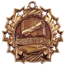 "2 1/4"" Bronze Honor Roll Ten Star Medal"