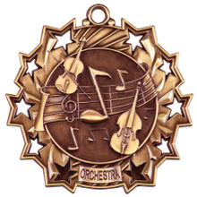 "2 1/4"" Bronze Orchestra Ten Star Medal"