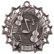 "2 1/4"" Silver Orchestra Ten Star Medal"