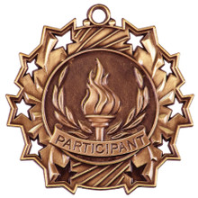 "2 1/4"" Bronze Participant Ten Star Medal"