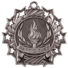 """2 1/4"""" Silver Participant Ten Star Medal"""