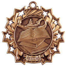 "2 1/4"" Bronze Reading Ten Star Medal"