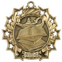 "2 1/4"" Gold Reading Ten Star Medal"