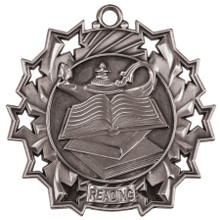"2 1/4"" Silver Reading Ten Star MEdal"
