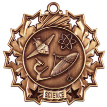"2 1/4"" Bronze Science Ten Star Medal"